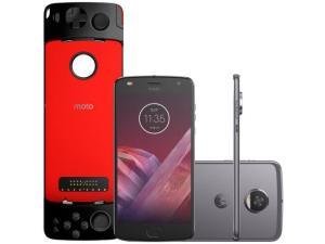 Smartphone Motorola Moto Z2 Play Gamepad Edition - 64GB Platinum Dual Chip 4G Câm 12MP + Selfie 5MP