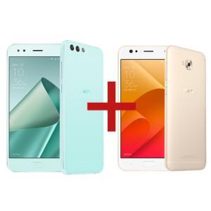 ZenFone 4 3GB/32GB Mint Green + Zenfone 4 Selfie 3GB/32GB Dourado