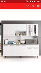 Armário de cozinha 12 portas 1 gaveta clara poliman
