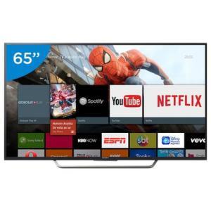 "Smart TV LED 65"" Sony 4K/Ultra HD KD-65X7505D - Wi-Fi 4 HDMI 3 USB DLNA - R$ 4899"