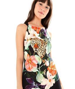 Vestido Curto Onça Manaus, FARM R$109