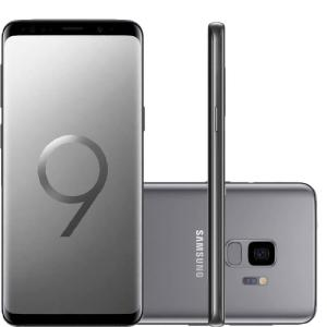 "Smartphone Samsung Galaxy S9 Cinza Tela Infinita de 5,8"" Câmera de 12MP 128GB Octa Core 4GB RAM"