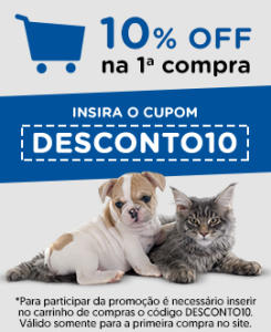 10% OFF para primeira compra na Cobasi