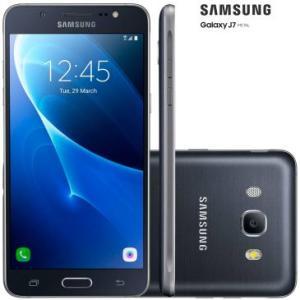 Smartphone Samsung Galaxy J7 Metal J710M Preto - Dual Chip, 4G, Tela 5.5, Câmera 13MP+Frontal 5MP Com Flash, Octa Core 1.6Ghz, 16GB,2GB RAM,Android 6 - R$689