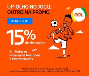 Passagens Aéreas Gol saindo de Rio de Janeiro  Tarifas postadas em 27/06/2018 às 13:45hr. Sujeitas à disponibilidade. Preço total final, já inclui taxas e encargos. Preço por adulto.