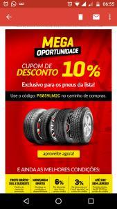 Pneu Store- 10% Off em pneus selecionados