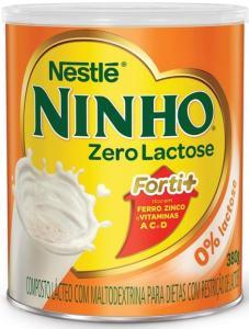 Leite em pó Ninho Zero Lactose 380g R$10,79
