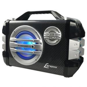 Caixa de Som Amplificadora Bluetooth Sound Wave 100W RMS Lenoxx Com Rádio FM, Entrada Cartão Micro SD e USB, Função Gravador + Microfone - CA305 | R$198