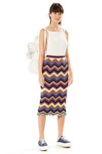 Saia Crochet Chevron Multicolorido Farm - R$174,30