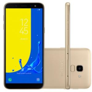 """Smartphone Samsung Galaxy J6 SMJ600 Dourado Dual chip Tela 5.6"""" 32GB 2GB RAM"""