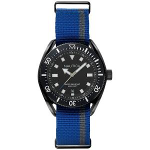 Relógio nautica masculino nylon azul e cinza - napprf002 - R$294
