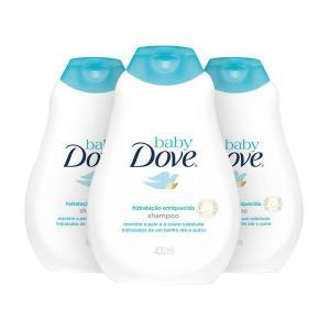 kit Shampoo Baby Dove Hidratação Enriquecida 400 ml - R$26