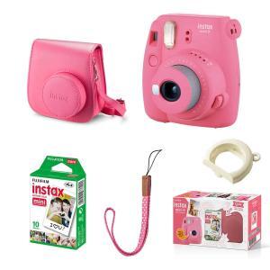 Câmera Fujifilm Instax Mini 9 Rosa Flamingo + Filme + Bolsa - R$439