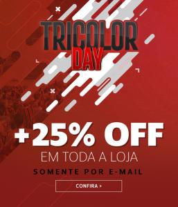25% OFF em produtos do São Paulo +10 % com CUPOM