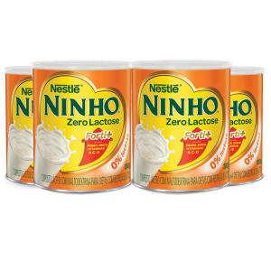 Leite em Pó NINHO Forti+ Zero Lactose 380g Leve 4 Pague 3 Unidades - R$ 32