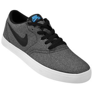 Tênis Nike Sb Check Solar Cnvs Masculino - Preto e Azul (nº 38 ao 44) - R$ 128