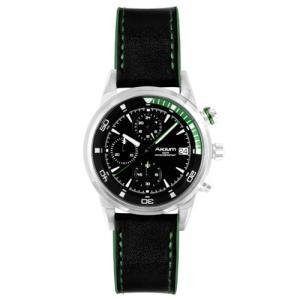 Relógio akium masculino couro preto - g6345n1-s/s-strap - R$245