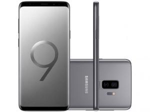 "Smartphone Samsung Galaxy S9+ 128GB Cinza 4G - Câm. 12MP + Selfie 8MP Tela 6.2"" Quad HD Octa Core - R$3.679"