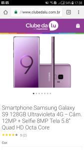 Galaxy S9 - 128gb  em até 20x sem juros