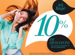 10% OFF em pagamento por boleto nas Lojas Rede