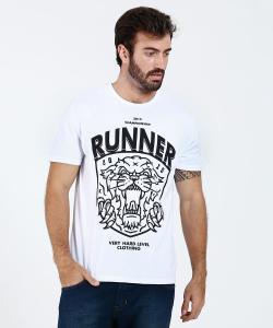 Camiseta Masculina Estampa Frontal Manga Curta  - R$10