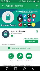 App Grátis - Password Saver - Google Play