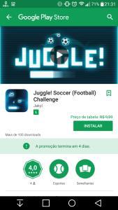 Jogo Grátis - Juggle! Soccer - Google Play - Jogo
