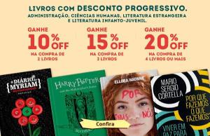 Desconto progressivo em livros na Saraiva, até 20% OFF