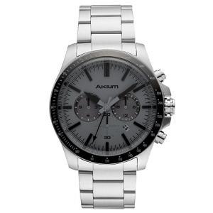 Relógio akium masculino aço - 03e50gb04-grey - R$315