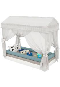 Mini-Cama Montessoriana C/ Dorsel Branco-Acetinado Pura Magia - R$350