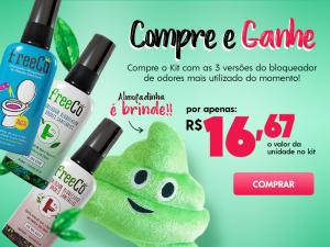Ganhe uma almofadinha na compra do kit Bloqueador de Odores Sanitários FreeCô - R$49,99
