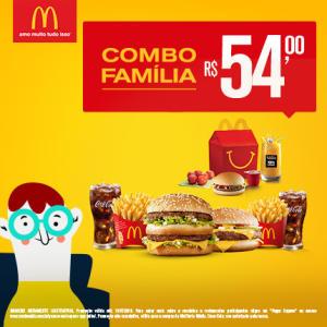 Combo Família no McDonald's - R$54