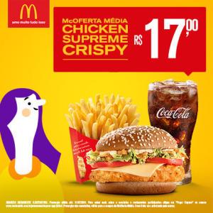 McOferta Média Chicken Supreme Crispy no McDonald's - R$17