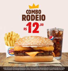 Combo Rodeio no Burger King - R$12