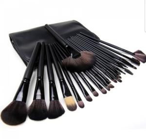 Kit De Pincel Para Maquiagem Com 24 Pcs Preto R$58
