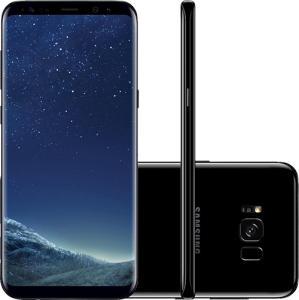 "Smartphone Samsung Galaxy S8+ Dual Chip Android 7.0 Tela 6.2"" Octa-Core 2.3 GHz 64GB Câmera 12MP - Preto - R$2.789"