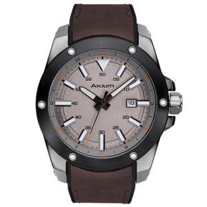 Relógio akium masculino couro marrom - 03e47gl02-brown - R$315