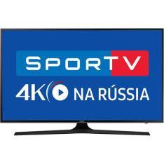 "Smart TV LED 75"" Samsung 75MU6100 UHD 4K HDR 3 HDMI 2 USB 120Hz - R$ 7694"