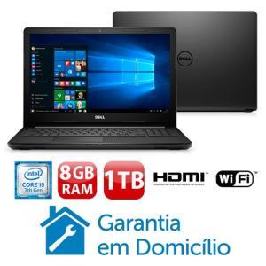"Notebook Dell Core i5-7200U 8GB 1TB Tela 15.6"" Windows 10 Inspiron I15-3567-A40P - R$2069"