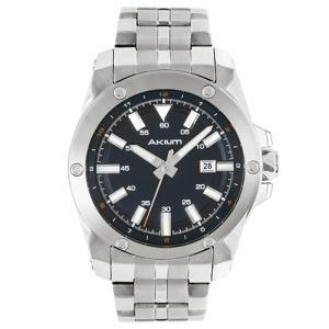 Relógio akium masculino aço - 03e47gb02-blue - R$273
