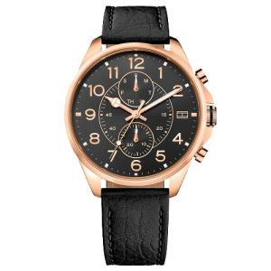 Relógio tommy hilfiger masculino couro marrom - 1791273 - R$390
