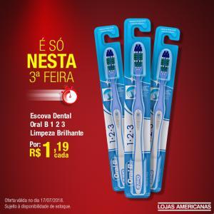 [Loja Física] Escova Dental Oral B 123 - R$1,19
