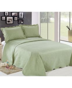 Kit Queen Camesa de Colcha e Porta Travesseiro Verde - R$92,79