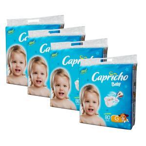 Fralda Capricho Baby Super Jumbo G - 320 Unidades - R$96