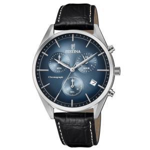 Relógio festina masculino couro preto - f6860/3 - R$413