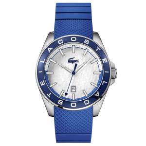 Relógio lacoste maculino borracha azul - 2010905 - R$325