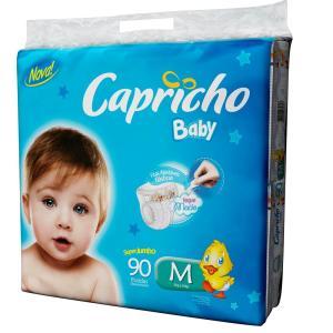Fralda Capricho Baby Super Jumbo P - 100 Unidades | R$38