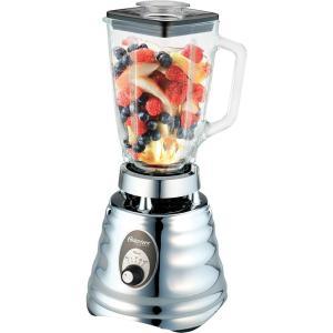 Liquidificador Osterizer Clássico Cromado c/jarra de vidro - 600W - 220 volts - R$120