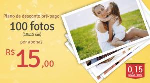 Promoção Planos Pré-pagos: garanta seus créditos e utilize depois! 0,15 centavos / foto 100 fotos 15,00