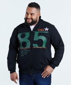 Casaco Masculino Moletom Plus Size Águia Tex - R$40